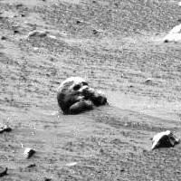 Mars Alien Skull