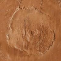 Mars Mount Olympus (extinct volcano)