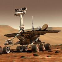 Mars NASA Opportunity rover (artistic rendering)