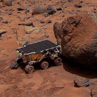 Mars NASA Sojourner near to the Yogi Rock