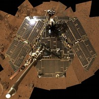 Mars NASA Spirit rover (self composite picture)