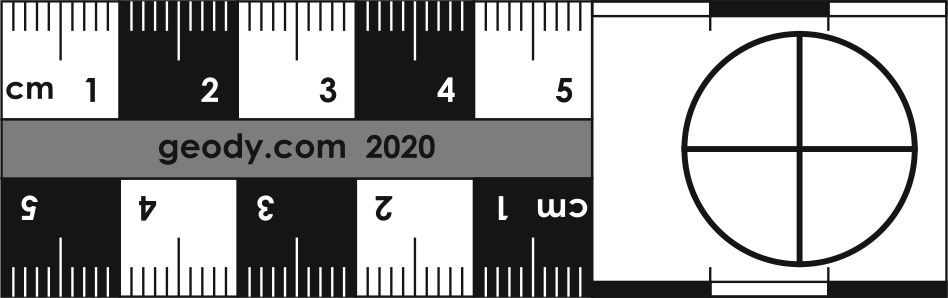 Linear Photo Scale Ruler with one Circle on the left side