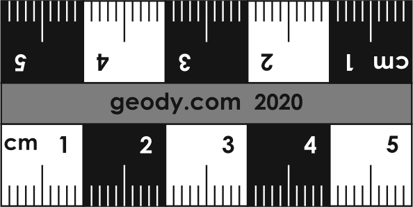 Linear Photo Scale Ruler without lateral circles