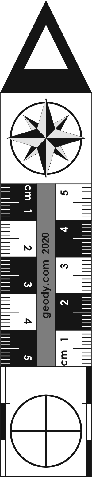 Arrow shaped Linear Photo Scale Ruler (large)