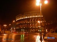 Colosseo (Colosseum) by night, Roma (Rome), Italy - wallpaper